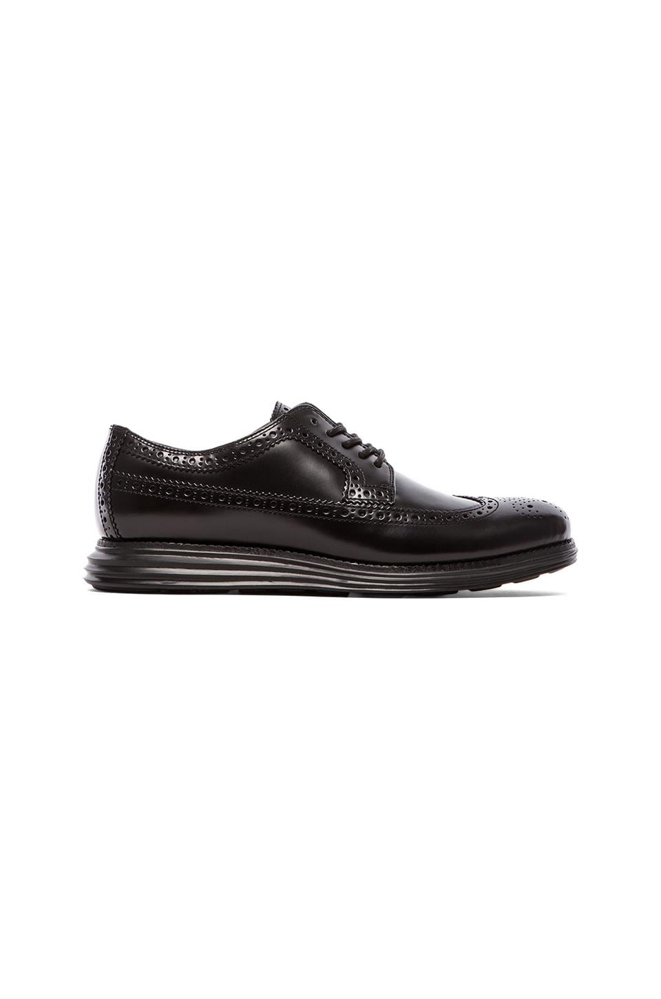 Cole Haan Lunargrand Oxford in Black & Black