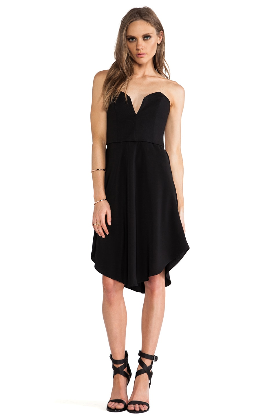 CHALK Hook Dress in Black