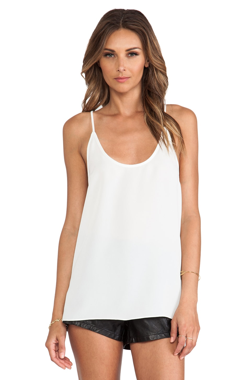 CHALK Jump Top in White & Black Combo
