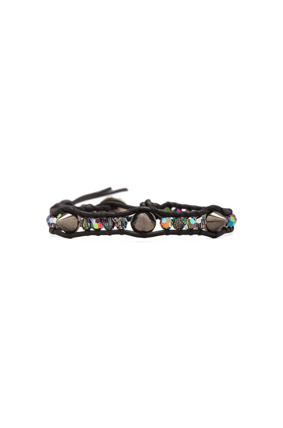 CHAN LUU Studs Bracelet in Crystal VM/Natural Black