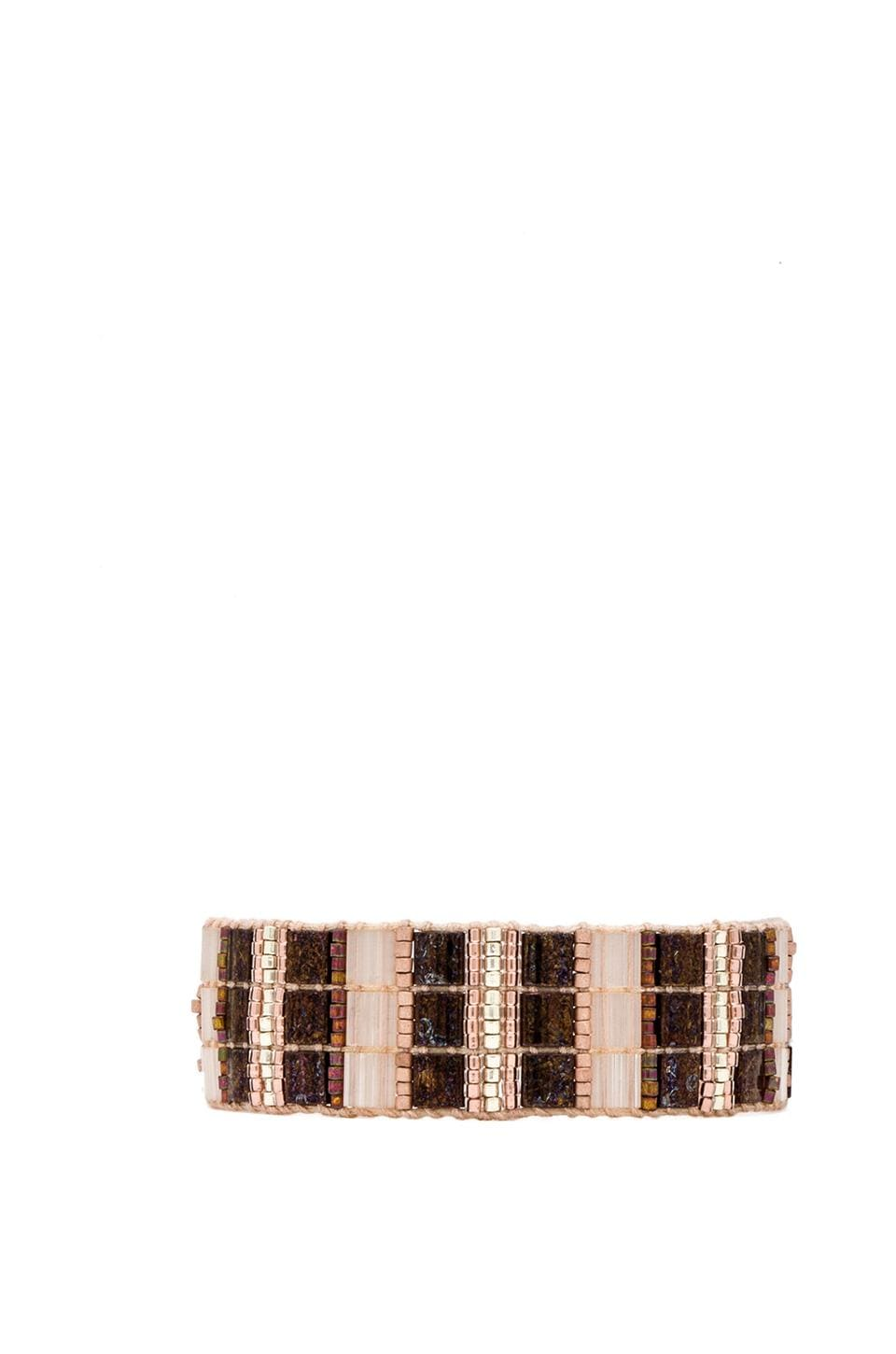 CHAN LUU Thick Bracelet in Rose Gold Mix