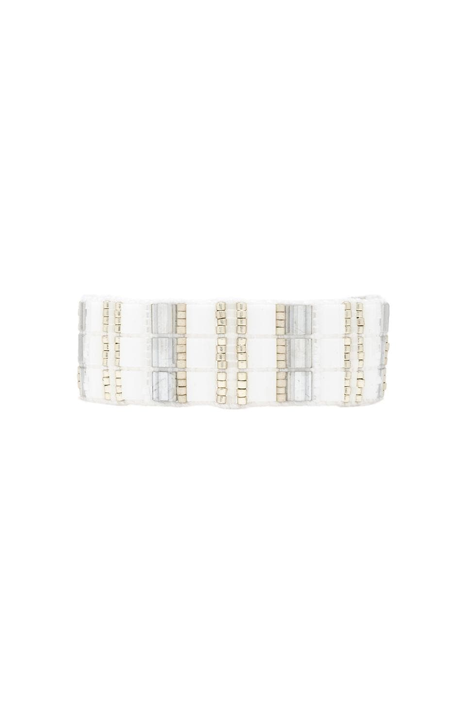 CHAN LUU Thick Bracelet in White Mix