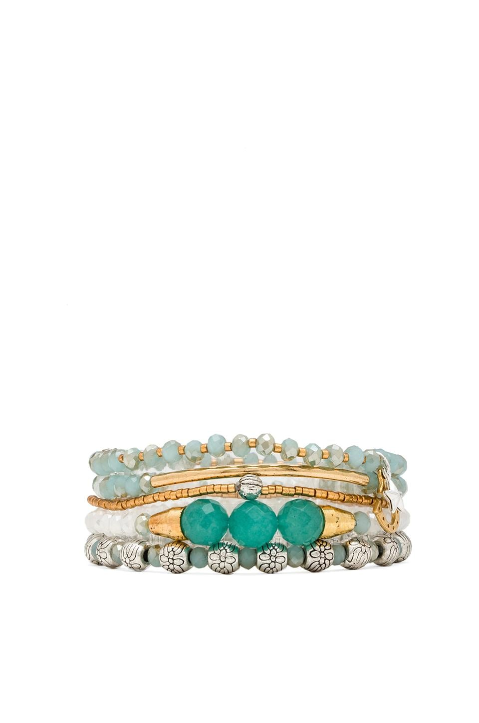 CHAN LUU Bracelet Set in Mint Mix