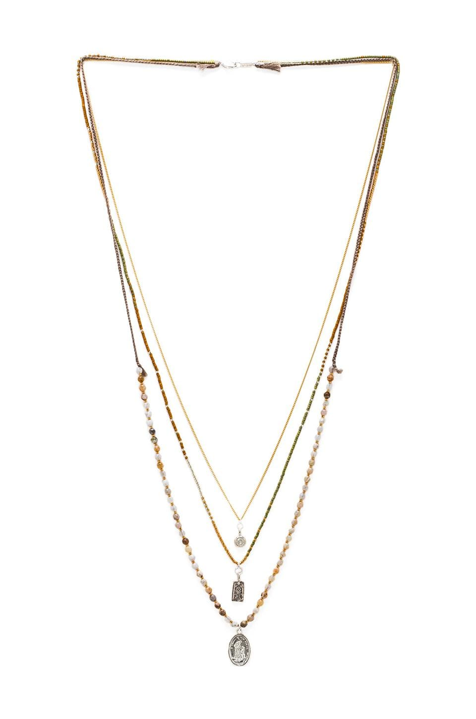 CHAN LUU Layered Necklace in African Opal