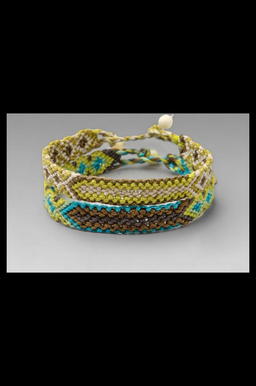 CHAN LUU 2 Pack Friendship Bracelet in Lime Combo