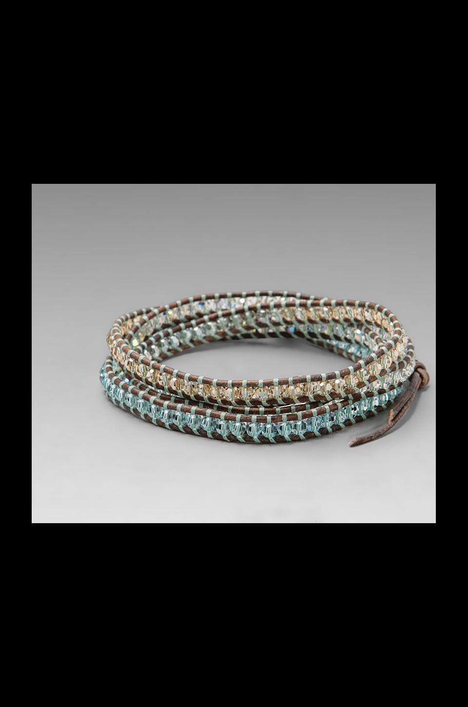 CHAN LUU Natural Leather Wrap Bracelet in Light Azore Mix