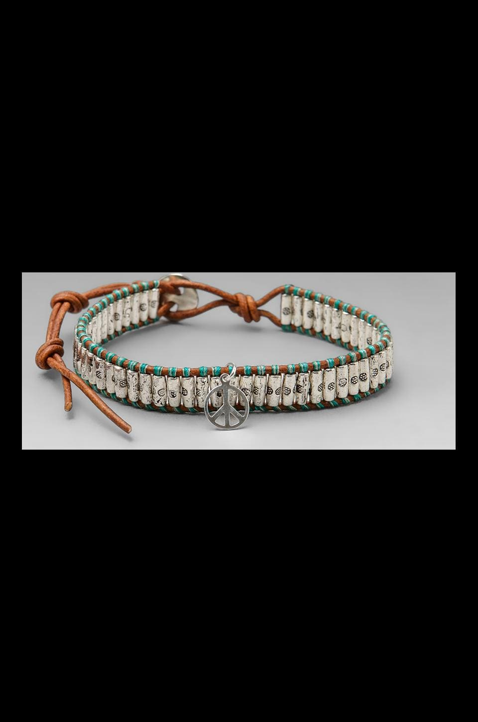 CHAN LUU Peace Bracelet in Turquoise Mix/Natural Brown