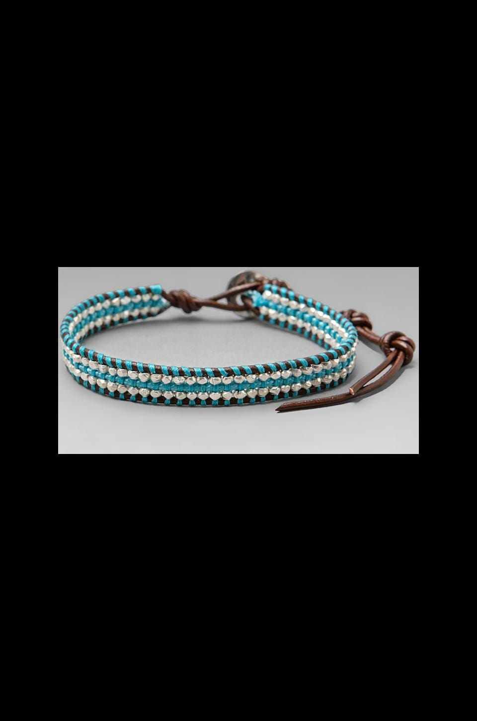 CHAN LUU Bracelet in Light Blue/Brown