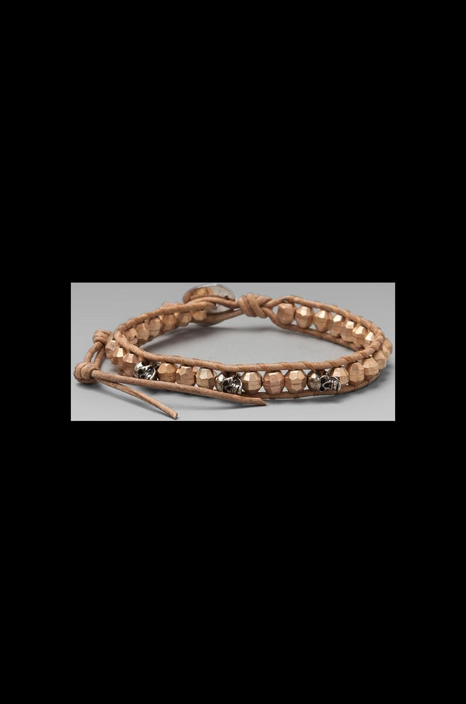 CHAN LUU Bracelet in Rose Gold/Beige