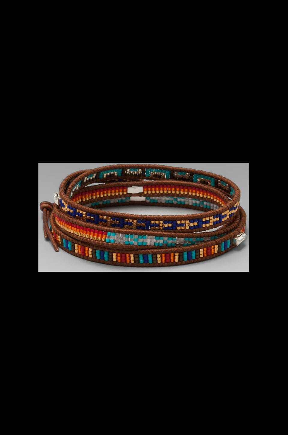 CHAN LUU Wrap Bracelet in Multi Mix/Natural Brown