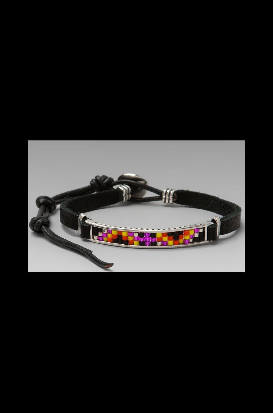 CHAN LUU Bracelet in Orange Mix/Black