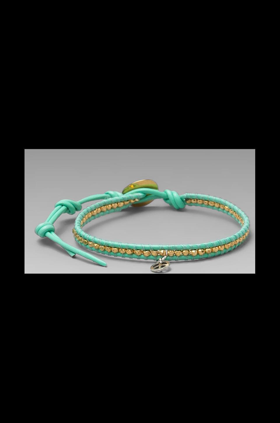 CHAN LUU Peace Bracelet in Yellow Gold/Mint
