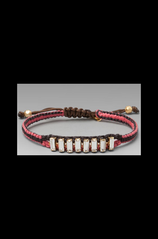 CHAN LUU Rhinestone Bracelet in Dark Peony/Shale