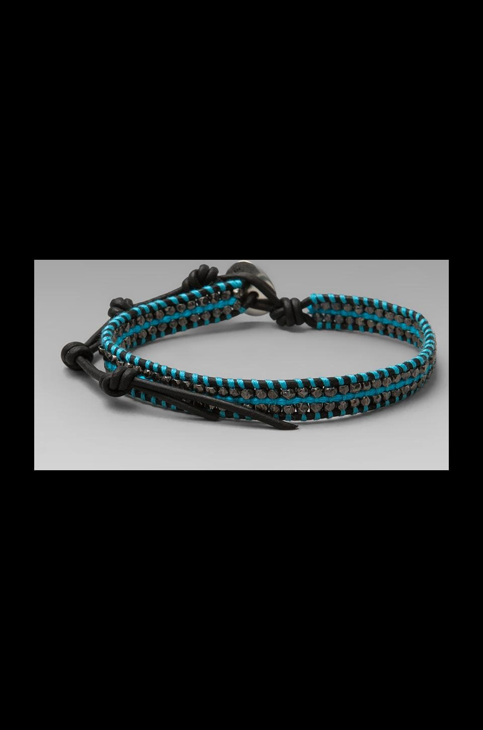 CHAN LUU Bracelet in Neon Blue/Natural Black