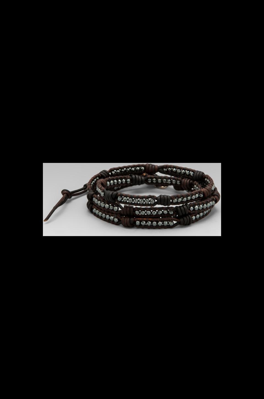 CHAN LUU Wrap Bracelet in Hematite/Sippa