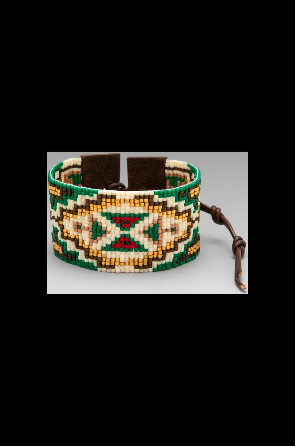 CHAN LUU Bracelet in Green Gold Mix