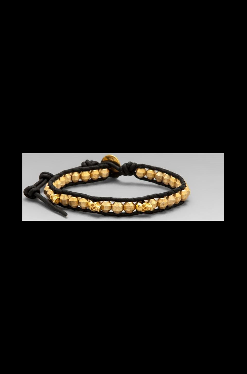 CHAN LUU Wrap Bracelet in Yellow Gold/Natural Black