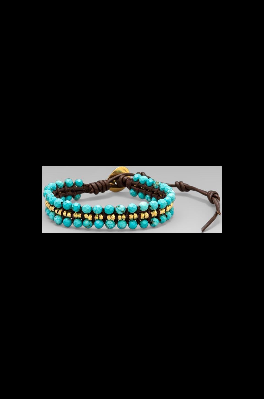 CHAN LUU Wrap Bracelet in Turquoise