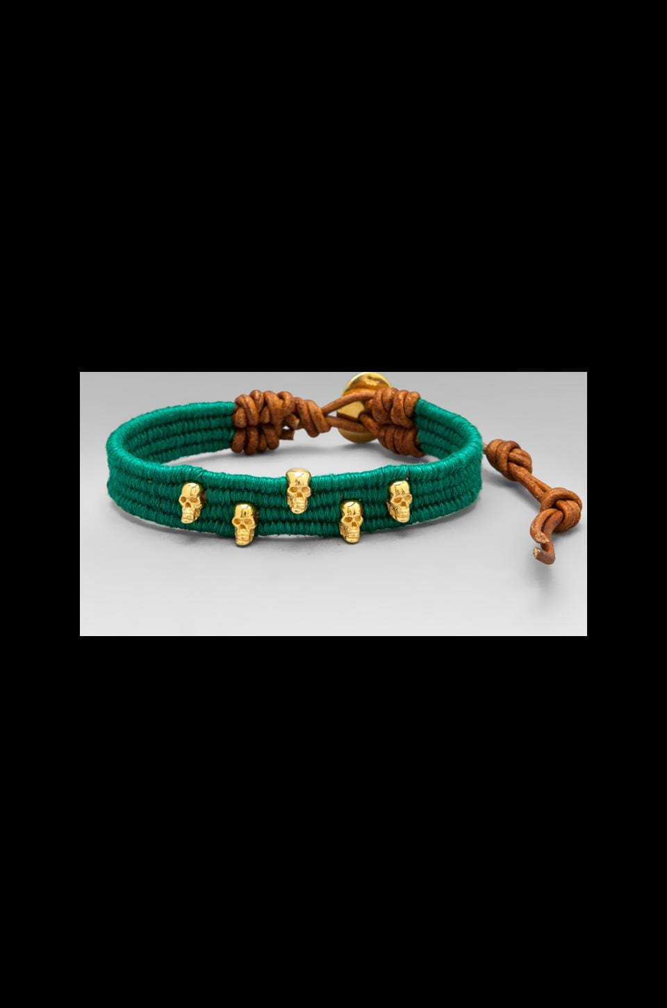 CHAN LUU Wrap Bracelet in Ultra Green/Natural Brown