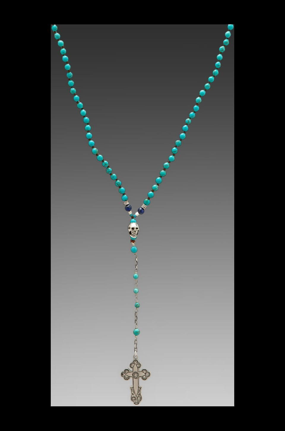 CHAN LUU Rosary Necklace in Turquoise