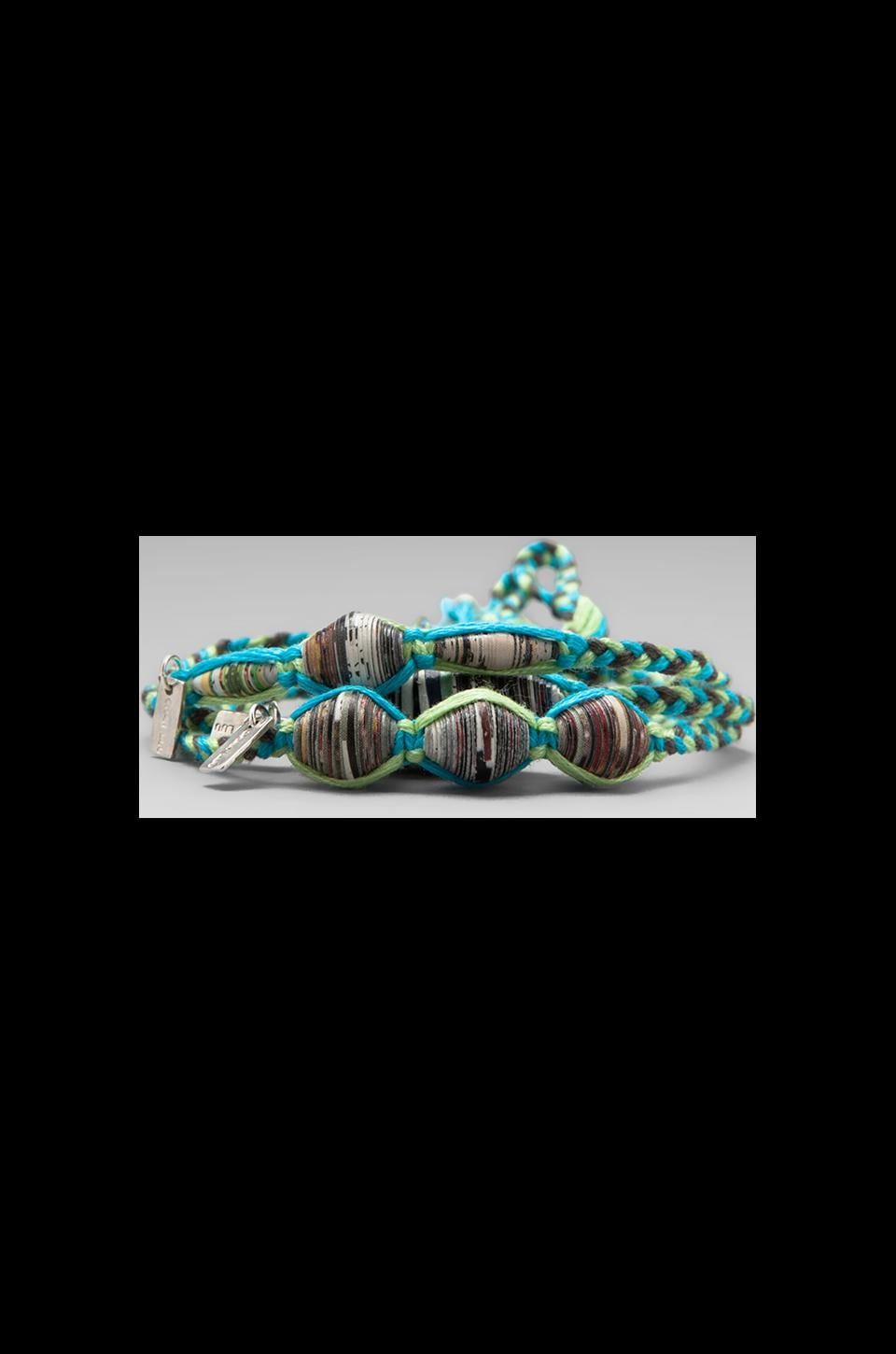 CHAN LUU Beaded Bracelet Set in Paradise Green Mix
