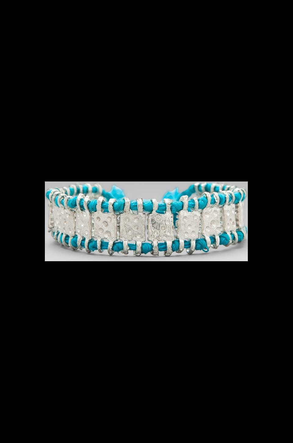 CHAN LUU Pull Tie Bracelet in New Turquoise Mix