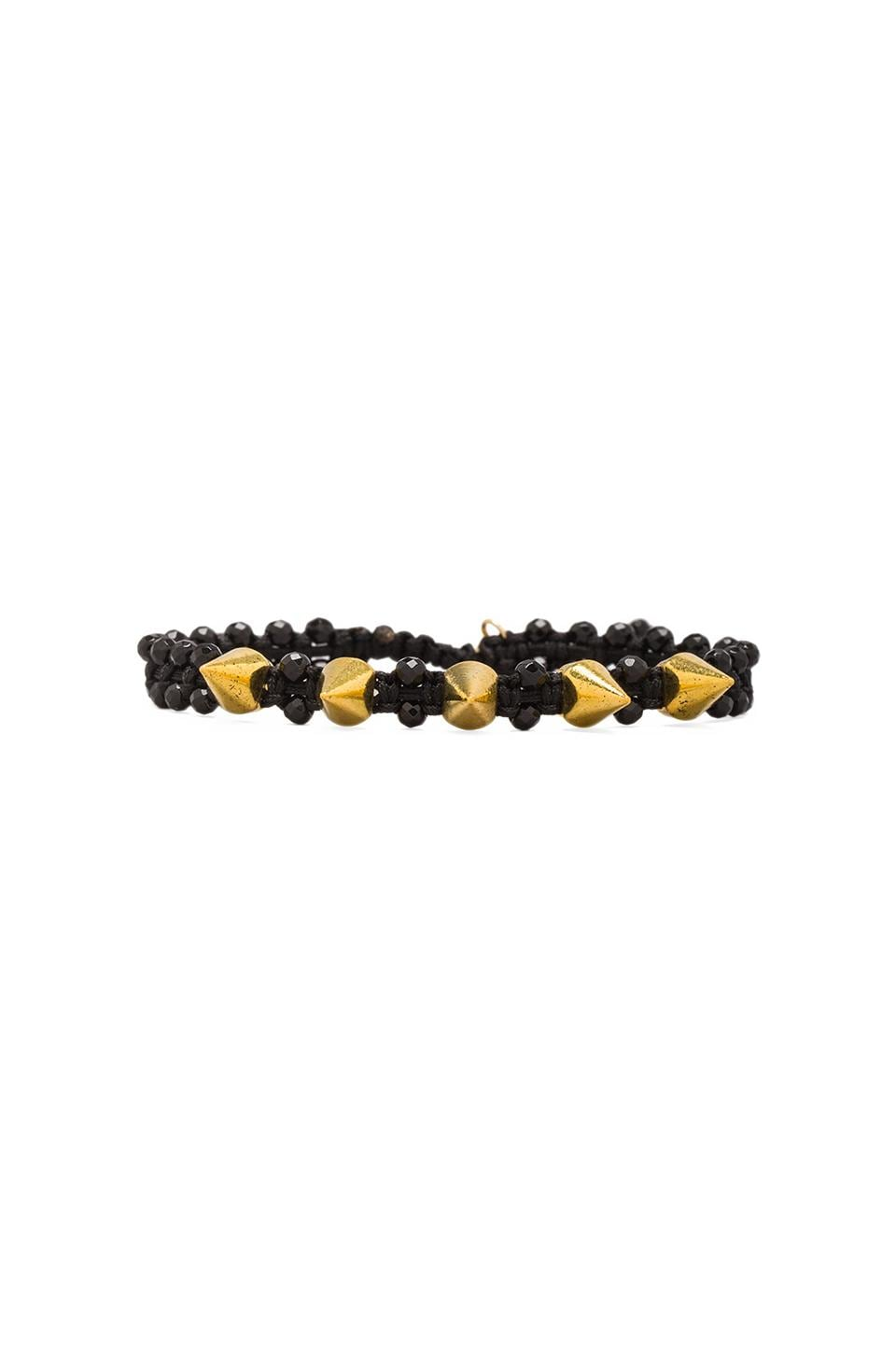CHAN LUU Spike Bracelet in Onyx/Black