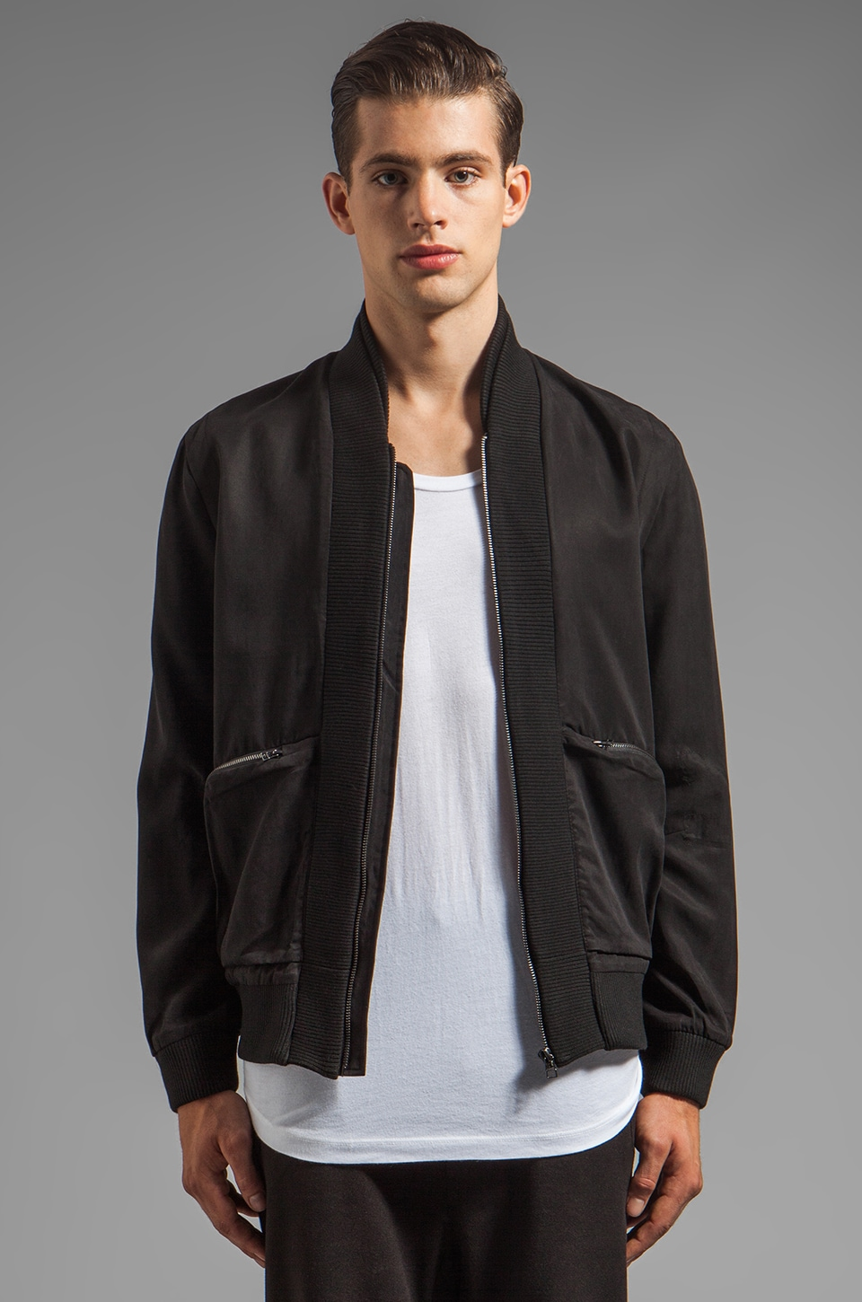 CHAPTER Cam Cross Zip Bomber Jacket in Black
