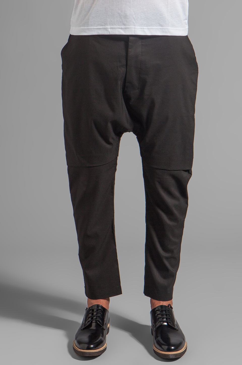 CHAPTER Xaiver Layered Drop Seat Pant in Charcoal