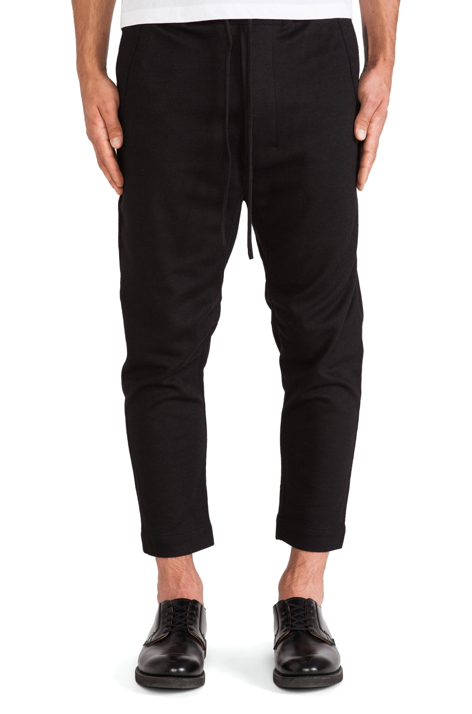 CHAPTER Baron Elastic Slouch Pant in Black