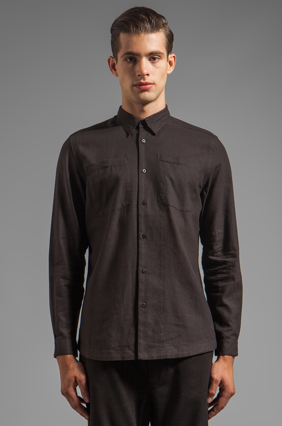 CHAPTER Fenring Button Down in Charcoal