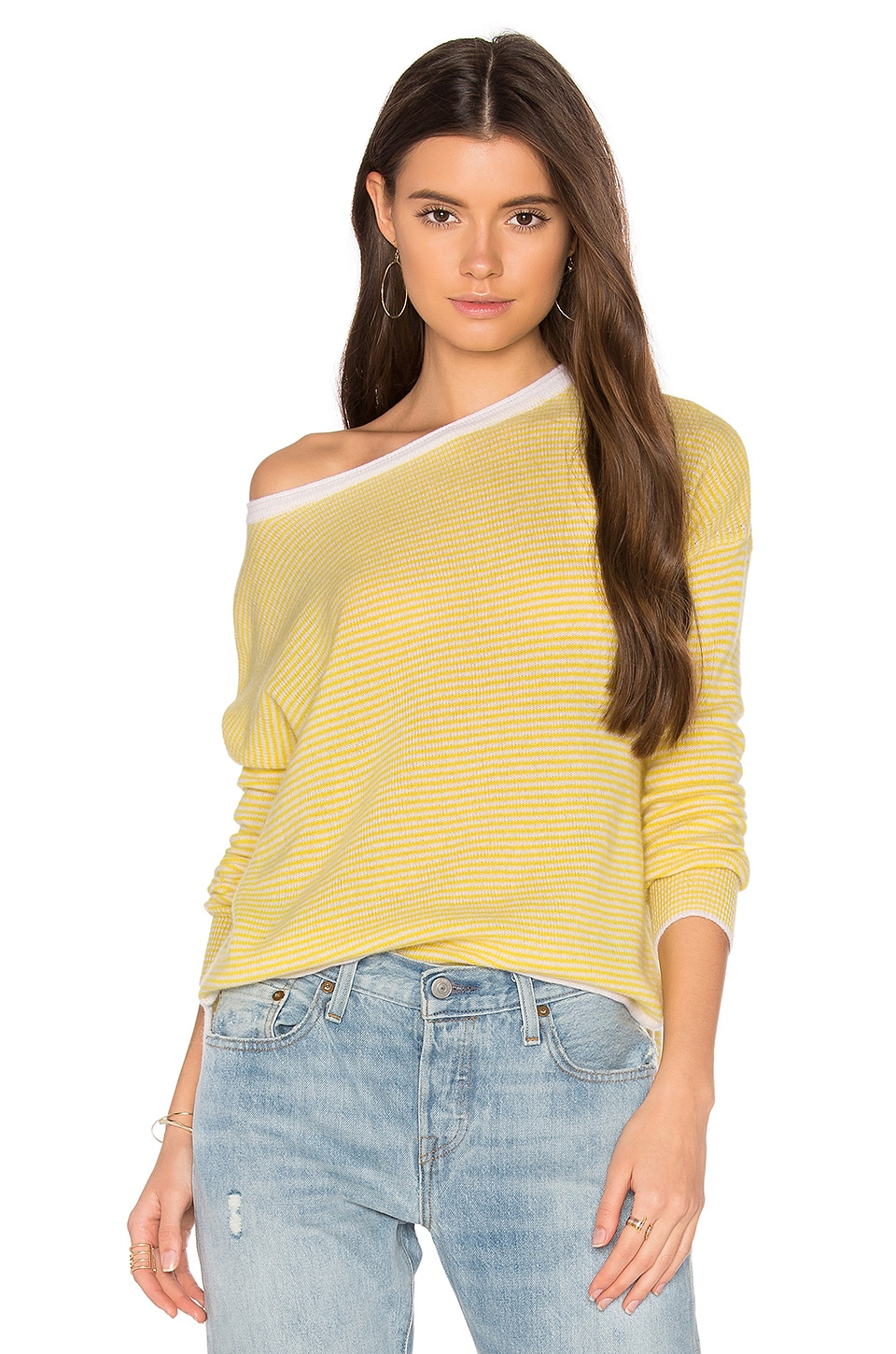 Clarisse Stripe Cashmere Sweater by CHARLI