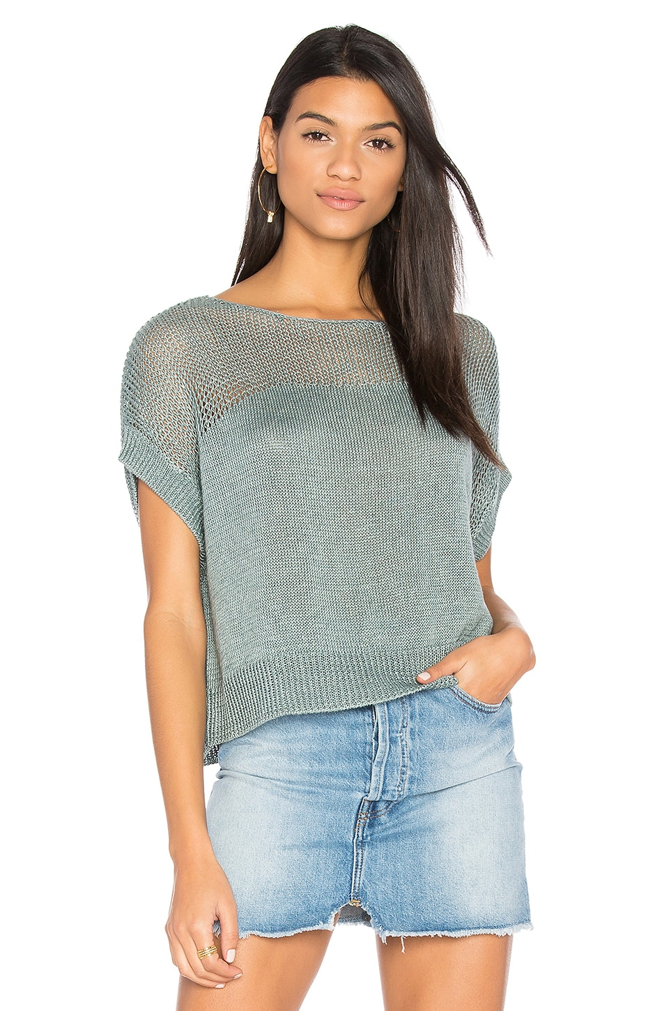 Lunetta Short Sleeve Sweater by Charli