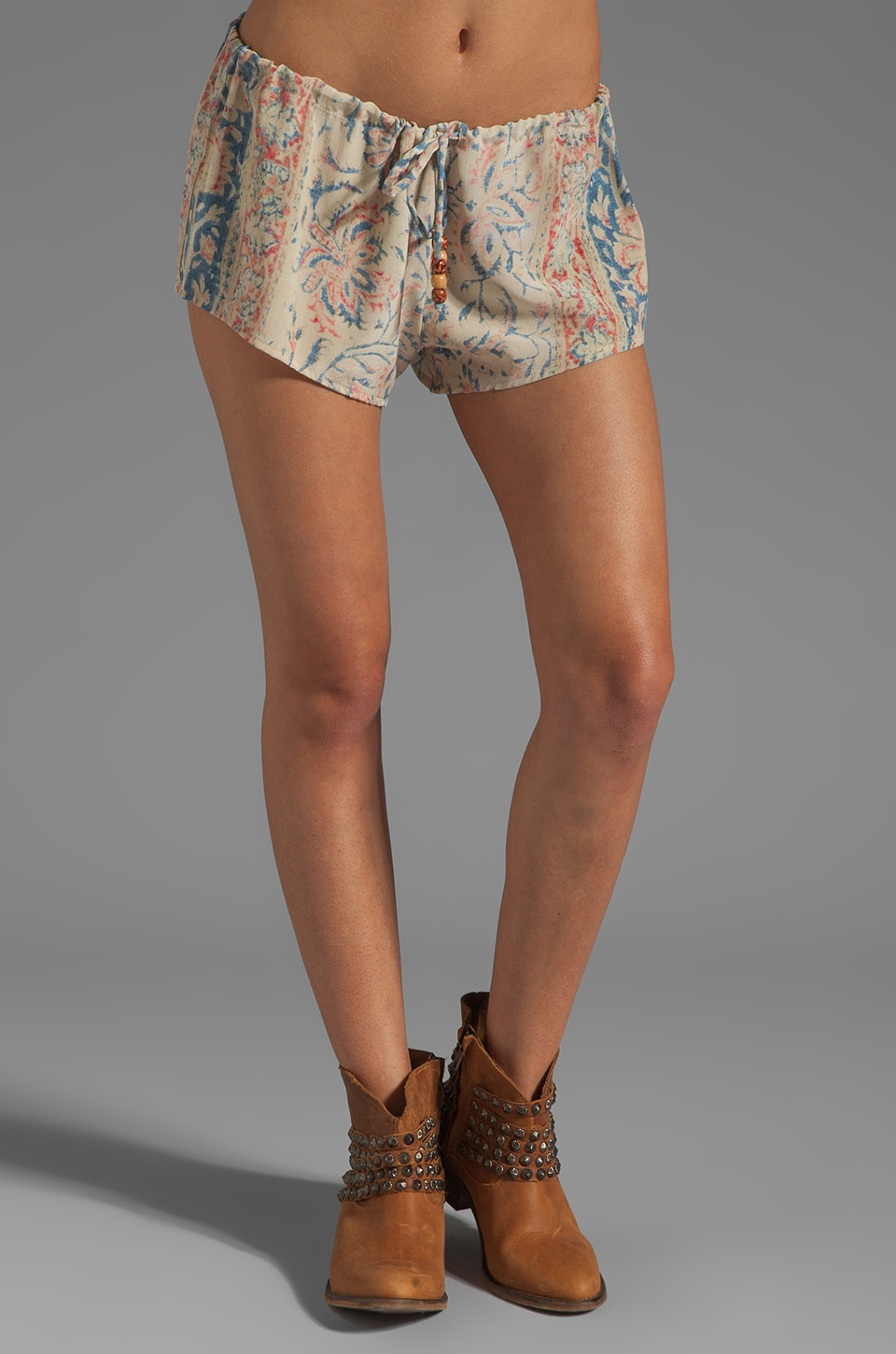 Chaser Clothing Co. <DEPRECATED> Chaser Vintage Tapestry Silk Drawstring Shorts in Sand Washed