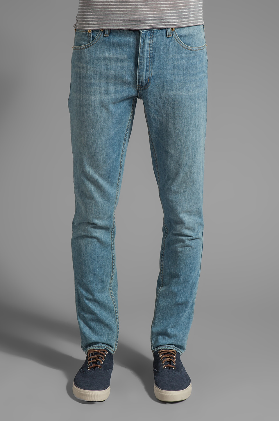 Cheap Monday High Slim Jeans en Bleu clair