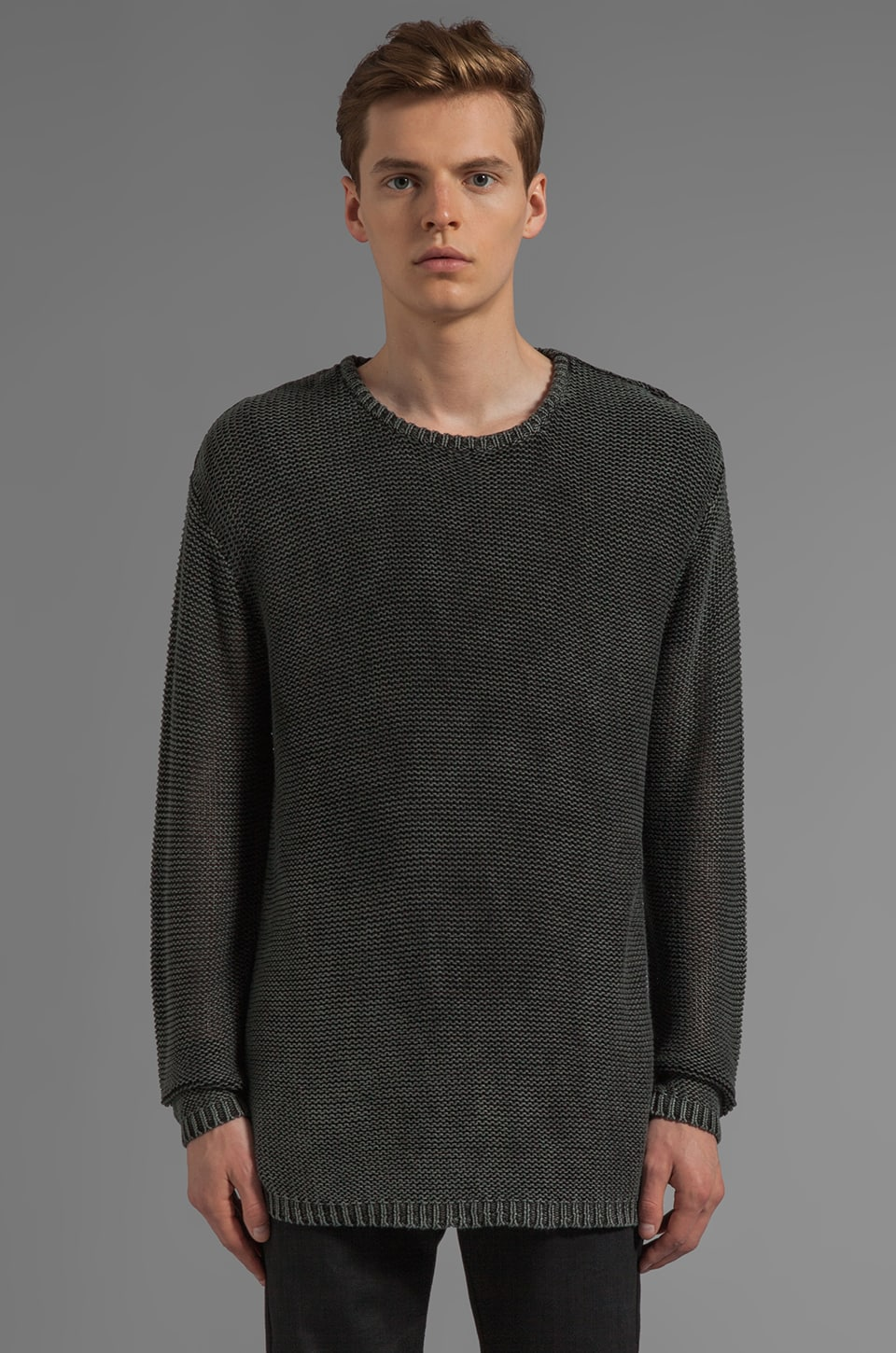 Cheap Monday Dave Sweater in Charcoal w/ Remake Red