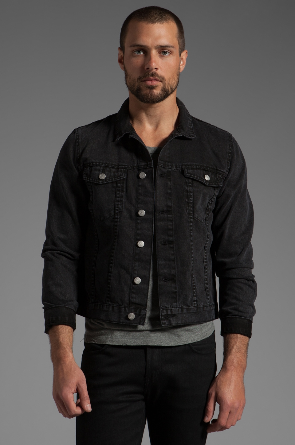 Cheap Monday Tobias Jean Jacket in Washed Black