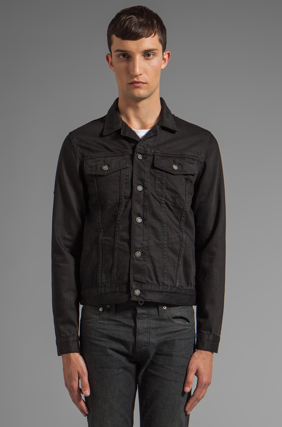 Cheap Monday Staple Denim Jacket in Rinse Black