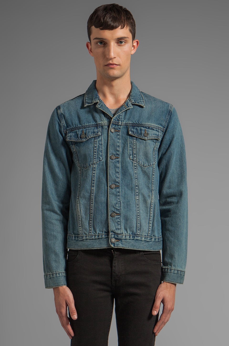 Cheap Monday Staple Denim Jacket in Heavy Worn