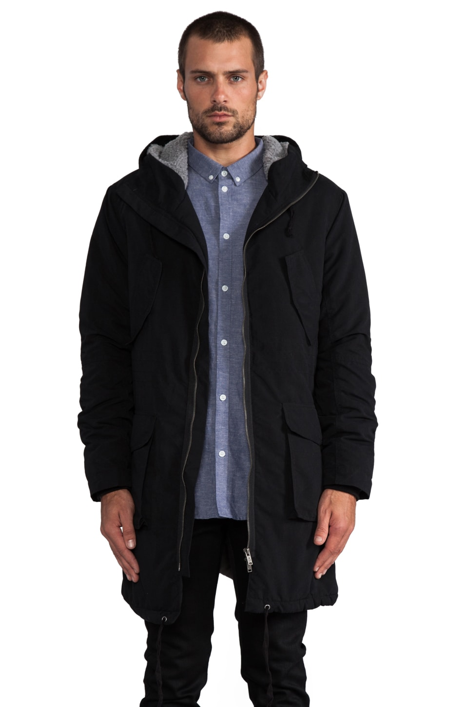 Cheap Monday Bart Parka in Black