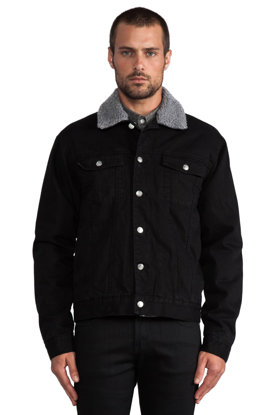 Cheap Monday Buzz Jeans Jacket en Noir