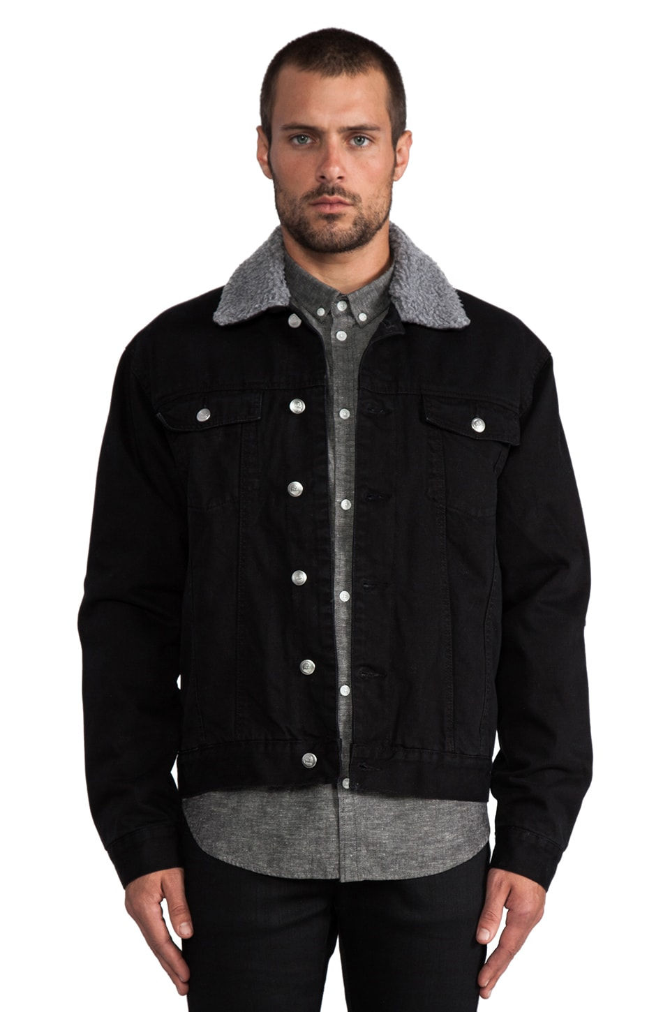 Cheap Monday Buzz Jeans Jacket in Black