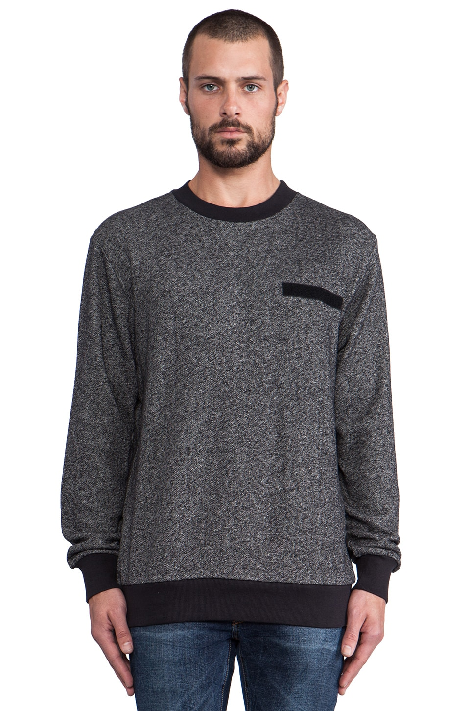 Cheap Monday Ribbed Sweatshirt in Pepper Melange
