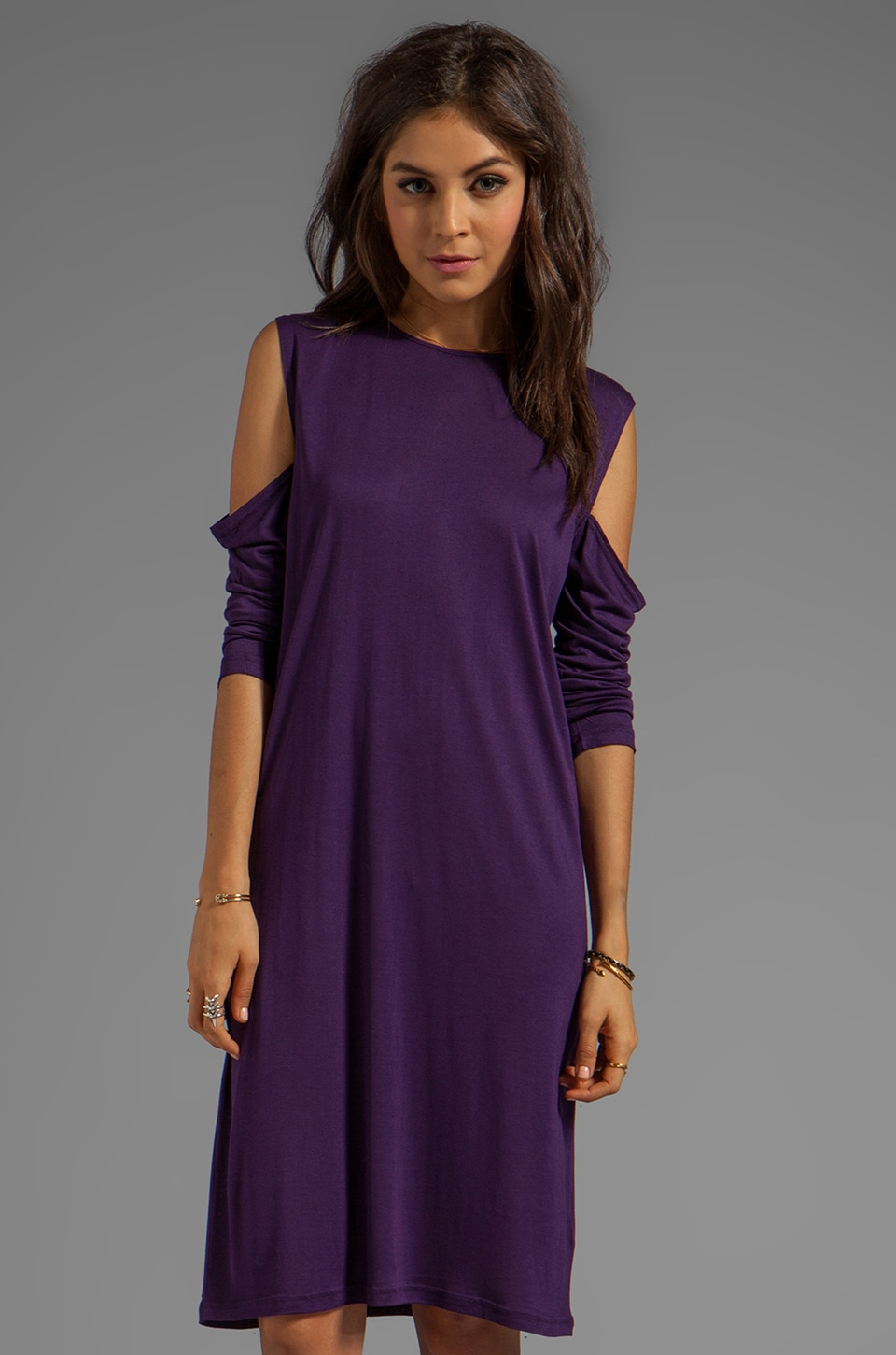 Cheap Monday Sally Dress in Dark Plum
