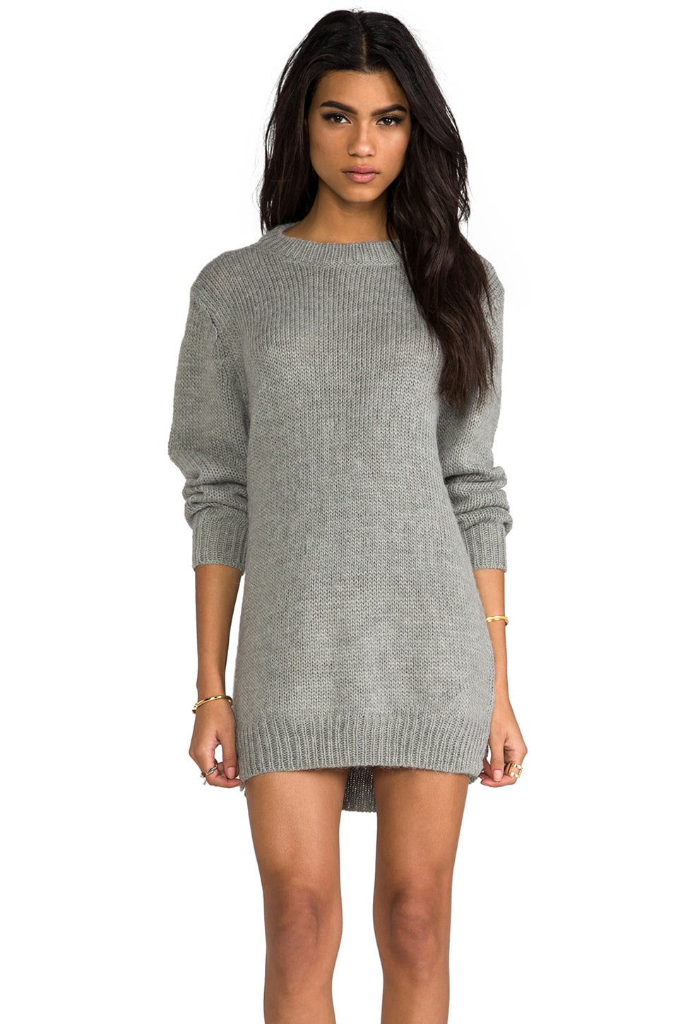 Cheap Monday Oregon Sweater Dress in Grey Melange