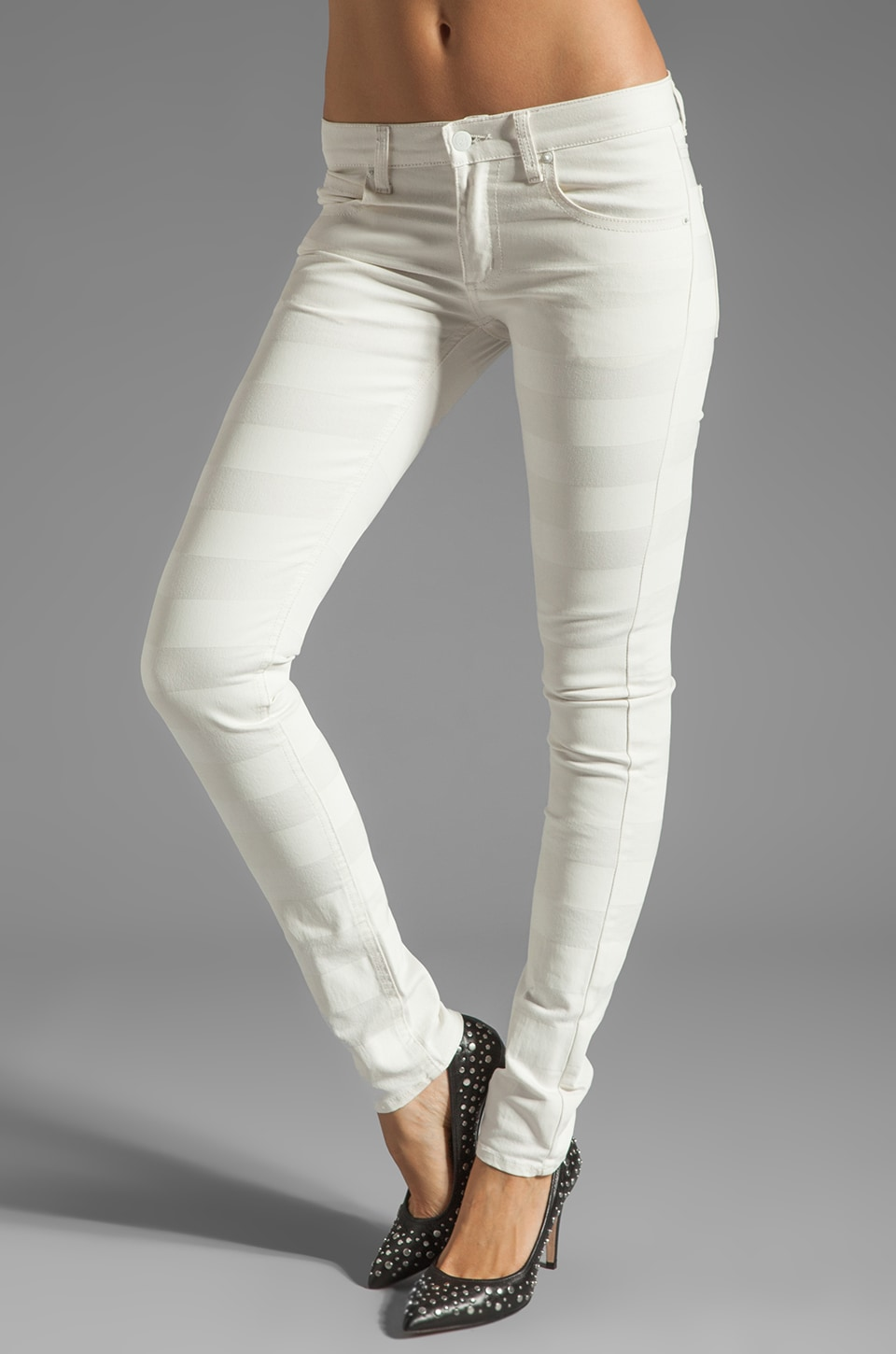 Cheap Monday Zip Low in White On White