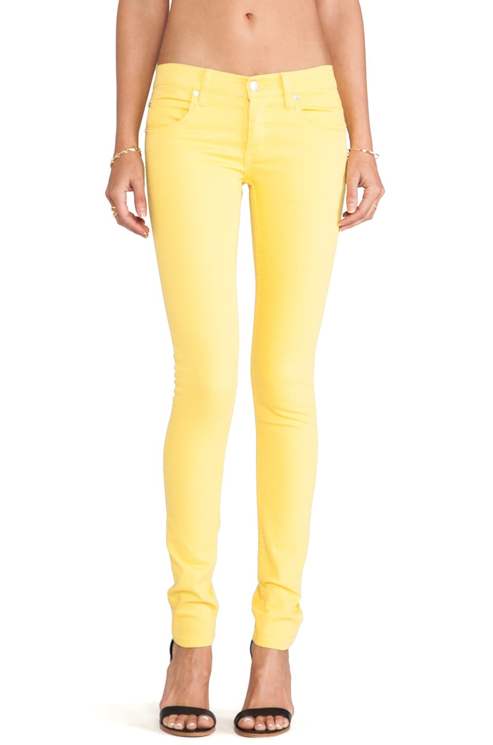 Cheap Monday Narrow Jeans in Bright Yellow