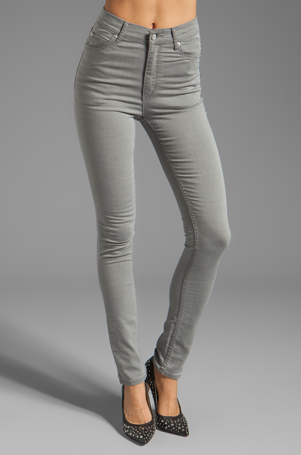 Cheap Monday Second Skin Jeans in Heavy Washed Grey