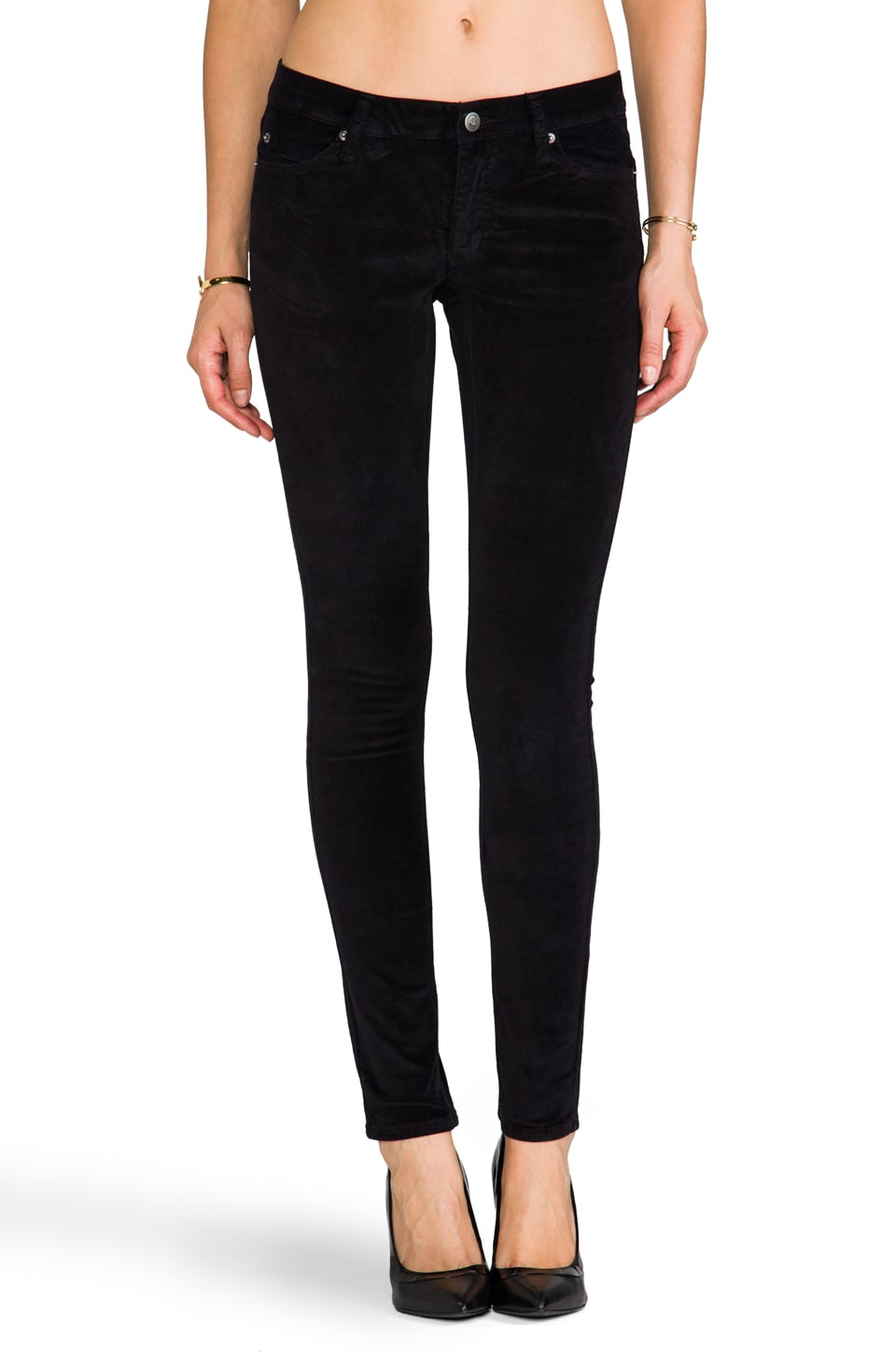 Cheap Monday Slim in Black Velvet