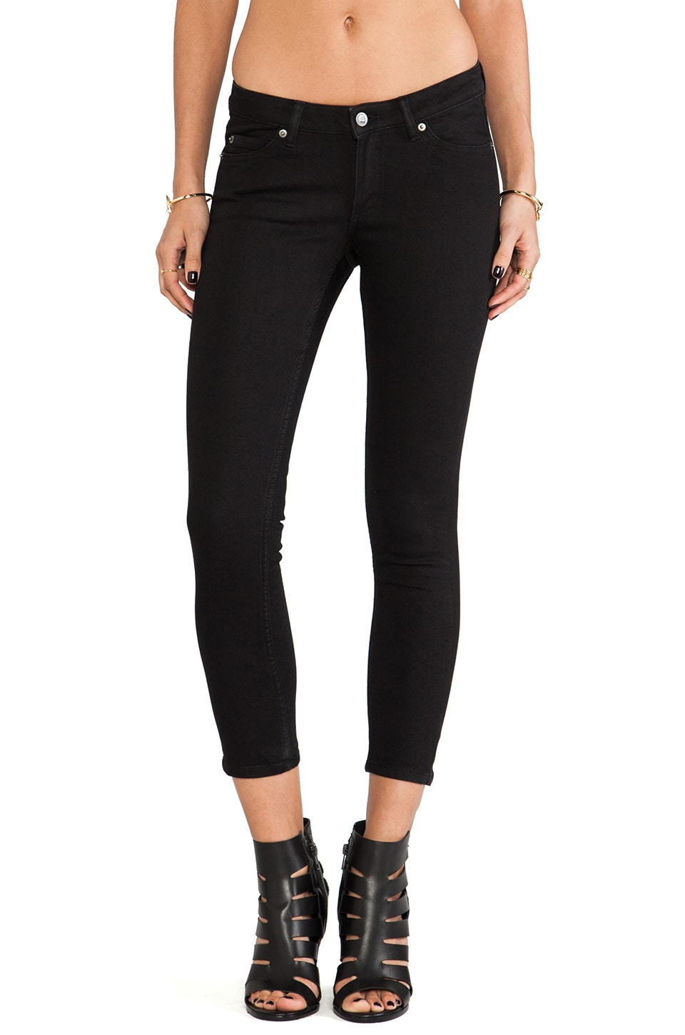 Cheap Monday Super Stretch Cropped Skinny in Pitch Black